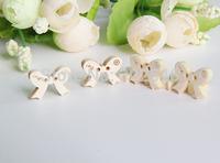 lovely little bow-knot wood button  cartoon wood button,13MM*18MM,50pcs/lot NK1