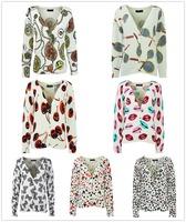 Autumn/Winter New Fashion Design Cool Long Sleeve Knitwear Korean Crop Cute Knitted Casual Cardigan Sweater k4036/k4272