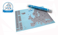 Wholesale 70 pcs  Deluxe  Scratch off  Map Europe Edition  European Scratch Sliver Map