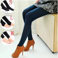 2014 new large size women's outer wear high waist warm autumn paragraph feet thick velvet leggings