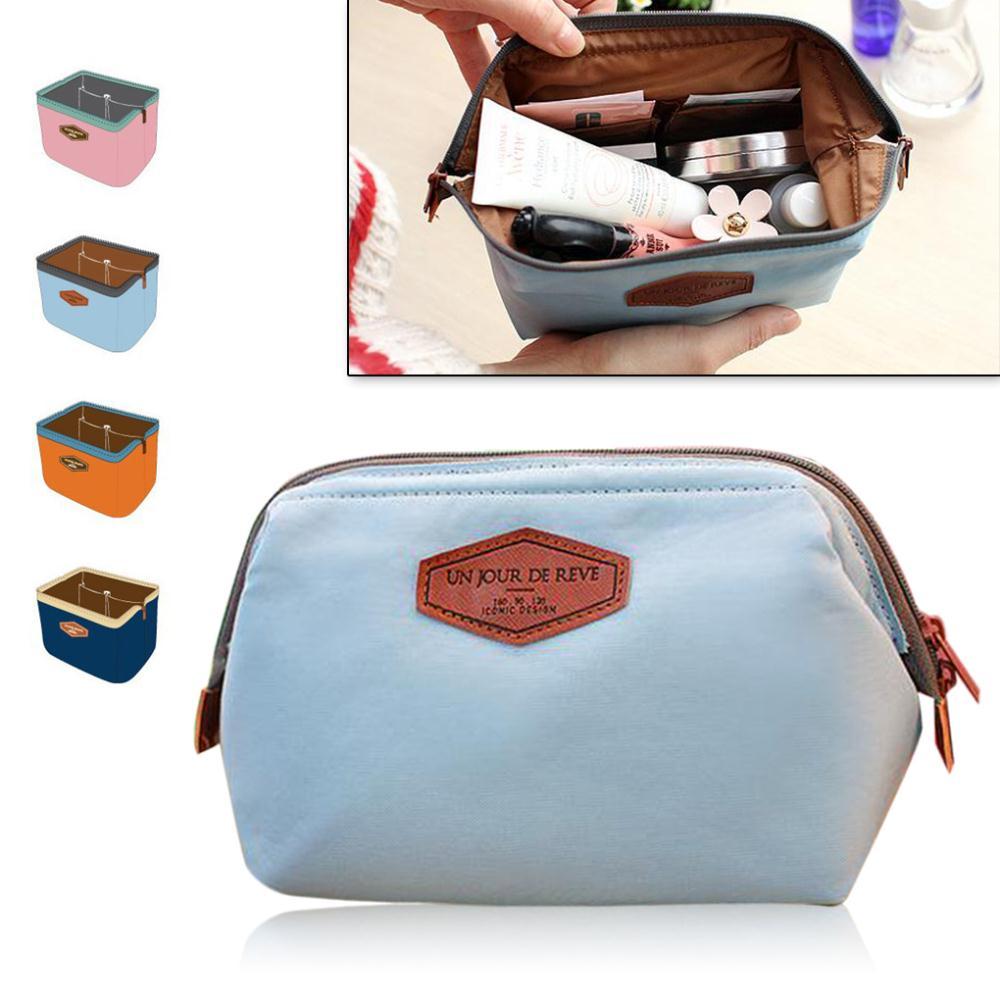 Fashion Nylon Steel PU Multi-use Cosmetic Makeup Travel Case Organizer Bag_ICONIC Frame Beauty Pouch(China (Mainland))