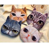 Hot Sale Mini Cute Cat Face Zipper Case Coin Children Kids Purse Wallet Makeup Bag Pouch Fashion Bag, Free Shipping