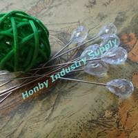 Crystal nickel plated decorative head pins