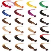 100% Brazilian Pre Bondeed fashion womenHair  U Tip Glue Fusion Nail  Hair Straight Extension 20 inch 100g