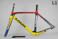 road bike look 695 carbon bicycle frame full carbon fiber frame look cycling frame+look carbon stem