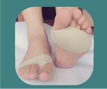 new item 1 pair silicone+ cloth front foot pad /cushion Silicone Gel Shoe Pad  Massage Care Cushion Silicone toe separtion