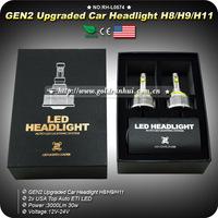 Car CREE H11 LED Headlight/Headlamps/Bulbs 30W 3000LM H8 H9 H11 for KIA RIO TOYOTA Chevrolet Ford Mazda Skoda Renault