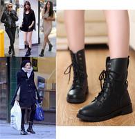 New 2014 PU Size EU 35-41 Color black woman martin boots fashion shoes cowboy boots ladies shoe Free shipping L2435
