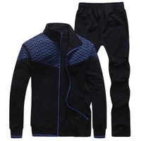 2014 Pure cotton long sleeve clothes qiu dong couples cardigan fleece sport suit men and women