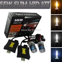 55W Xenon HID Kit Car Headlight Slim Ballast 880 881 H1 H3 H7 H8 H9 H10 H11 9005/HB3 9006/HB4 Bulb  6000K 8000K SG Freeshipping