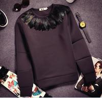 Europe fashion runway mens fur hoodie brand neoprene crewneck sweatshirts with sleeves plus size hoodie pullovers Nora60659
