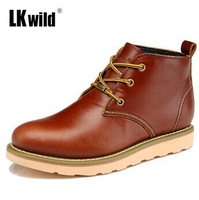 2014 New Z.suo Arrive Men's Fashion Genuine Leather Shoes Casual Elegant Ankle Boots Male Trend Martin Boots 39-44