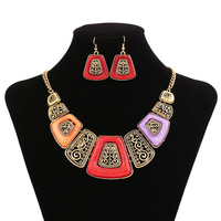 Fashion New resin  alloy necklace  ccessories sweater chain women pendant necklace zz48