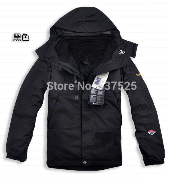 Winter autumn men's warm coat outdoor waterproof Camping Hiking skiing 2 in 1 jackets windbreaker sports wear soft shell jacket (China (Mainland))