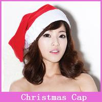 1x Ordinary Adult Christmas Hat Caps Santa Ultra Soft Plush Santa Claus Father Xmas Cap Christmas Clothing Gift Retail