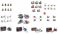 8pcs Building Block Star Wars white blue clone troopers Yoda Han Solo Obi Wan Kenobi Action minifigures toy Compatible With Lego