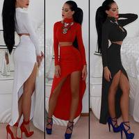 NEW 2014 HOT Star Fashion Women's Sexy & Club dress Sexy long-sleeved dress Oblique swing nightclub dress