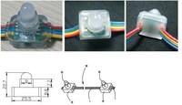 50pcs LED Pixel Module RGB WS2811 Waterproof IP65 DC5V 12mm Square Exposed Light String