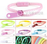 Free shipping 5#  Luminous bracelet  environmental protection kid bracelet  fashion zipper bracelets
