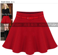 A-line European Style Red Black Mini Skirts Women Winter Joker S- XXL Skirt
