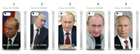 The strong President vladimir putin designs 5pcs/lots case cover for iphone 5 5s + free shipping