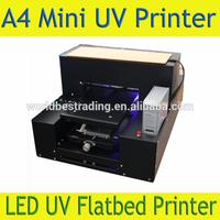 A4 UV Flatbed Printer Small LED DTG UV Printer