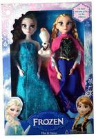 Frozen Elsa Anna dolls plush with Olaf Frozen toys kids Girl baby Birthday/Xmas Gift in retaik box brinquedos meninas bonecas