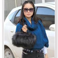Hot Saling! Fashion Autumn Winter Black/White Women Handbag Shoulder Bag Fur Mini Messenger Bag, Free Shipping