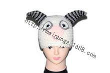 New Style Fashion Latest Hat Winter Protect Ears Warm Cute Sheep/Goat Crochet Beanie,Men&Women Cap,Cartoon,Factory low price(China (Mainland))