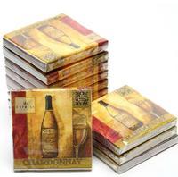 [4 packs] 100% virgin wood pulp creative party paper napkins printed festival napkin chardonnay cocktail napkins -Z4NC1468AB