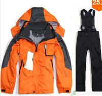 2014 kids ski jacket warm winter jacket + pants fashion men outdoor jackets men's sports suit Suit