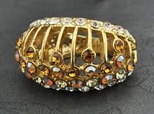2 color crystal women's ring (hemeisi)(China (Mainland))