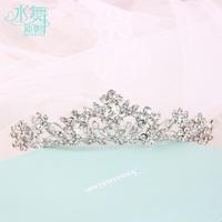 Korean crytal jewelry bridal crown tiara wedding flowers decorated hair accessories wedding enfeites de cabelo