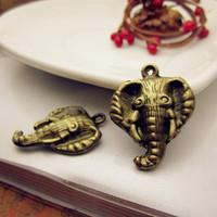 2015 Wholesale Women Metal Elephant Charms DIY Jewelry Vintage Metal Charms 50pcs/bag