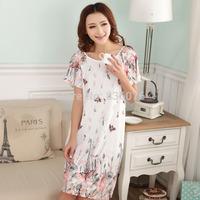 Sexy female summer pajamas nightgown summer cute cartoon woman female short-sleeved princess XL tracksuit