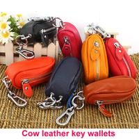 Genuine Cow Leather Purse Car Key Wallets Fashion Women Housekeeper Key Holders HB-223