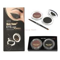 Best Seller Brown + Black Eyebrow Powder Make Up Water-proof And Smudge-proof Cosmetics Set Eye Brows Powder in Eye Makeup 1090