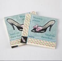 [4 packs] 100% virgin wood pulp creative party paper napkins printed festival napkin High heel daily napkins -4NC3070