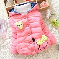 winter baby warm jacket kids girls children cartoon lovely outwear coats sweaters 2014 KT543R