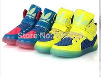 free shipping Spring New Fashion Basketball Running Children Boots Super Luminous Boys/Girls Children Shoes Kids Sneakers