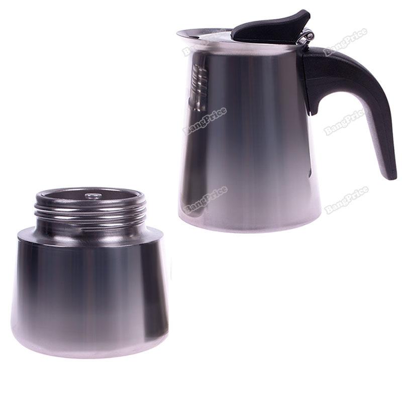 Moka Pot Stainless Steel 2 Cup Stainless Steel Moka