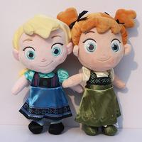 2pcs/set 2014 New Frozen Kristoff Plush Elsa Anna baby plush Soft Toys Baby Toy Girls Christams Birthday Party Gift