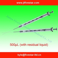 Micro Syringe used in labs 500ul