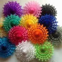 "Free Shipping 20pcs/Lot 12""(30cm) Snowflake Paper Fan Wholesale/Retai Tissue Paper Fan Crafts Party Wedding Home Decoration SPF5"
