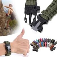 HOt Sale PARACORD BRACELETS KIT Military Emergency Survival Bracelet Charm Emergency Paracord Bracelets for Men