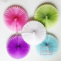 "Free Shipping 30pcs/Lot 8""(20cm) Paper Fan Wholesale/Retai Tissue Paper Fan Crafts Party Wedding Home Decorations PF-20-01"