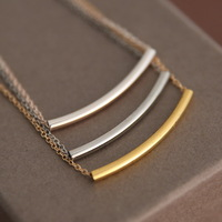 European and American retro fashion compact simple cute little bar pendant chain Dainty necklace wholesale