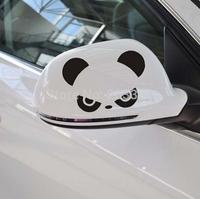 2pcs Funny Angry Panda Car Van Bumper Window Laptop Vinyl Decal Stickers Rearview Mirror JDM Car Sticker Car Styling