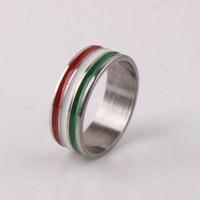 20pcs/lot 3 colors stripe 316L Stainless Steel finger rings for men women  jewelry Free shipping wholesale lots