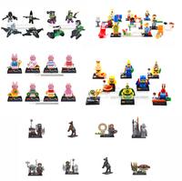 Spongebob 8Pcs/lot DIY Minifigures Kids Toys Patrick Star minifigure Building Block Freeshipping Compatible With Lego